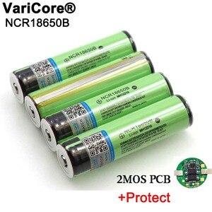 Image 1 - 2020 geschützt Original 18650 NCR18650B 3400mAh Wiederaufladbare Li lon batterie mit PCB 3,7 V Für Taschenlampe