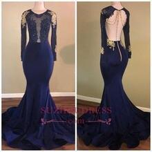 Модные королевские голубые кружевные платья русалки для выпускного