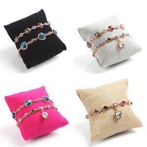 New Jewelry Bracelet Bangle Pillow Display Holder Watch Holder Display Pillow Cushion Pillows Bracelet Jewelry Display Holder(China)