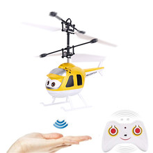 Cartoon Intelligent Hand Sensing Flying Toy Electronic Aircraft Suspension Toys For Child Smart Pet Action Helicopter Toy(China)