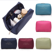 1 pc Hot Solid Color Cosmetic Bag Women Makeup And Case Professional Travel Organizer Kits  Storage