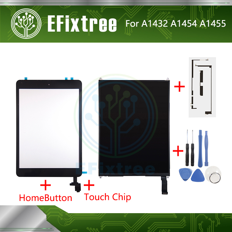 New A1455 A1454 <font><b>A1432</b></font> Touch Screen With board For <font><b>iPad</b></font> <font><b>Mini</b></font> 1 LCD Display 7.9 inch With Tool and Sticker and Home button image