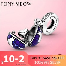 Hot Sale New 925 Sterling Silver Our Blue Planet Dangle Charm Pendant fit Original Pan Bracelet Sterling Silver Jewelry Gift