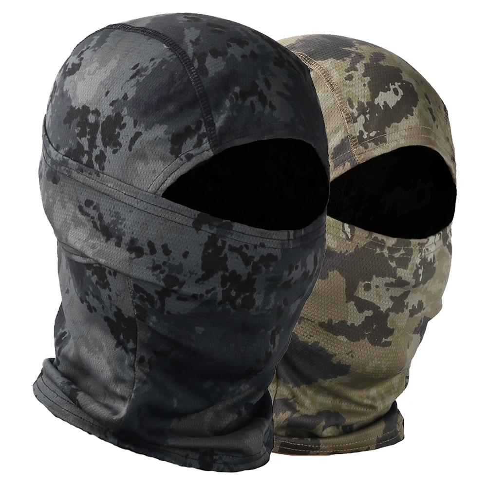 Camouflage Balaclava Tactical Motorcycle Face Mask Motorbike Wargame Face Shield Hunting Helmet Cap Military Moto Skull Mask