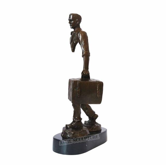 Famous Bruno Catalano Bronze Traveller Statue Sculpture 2