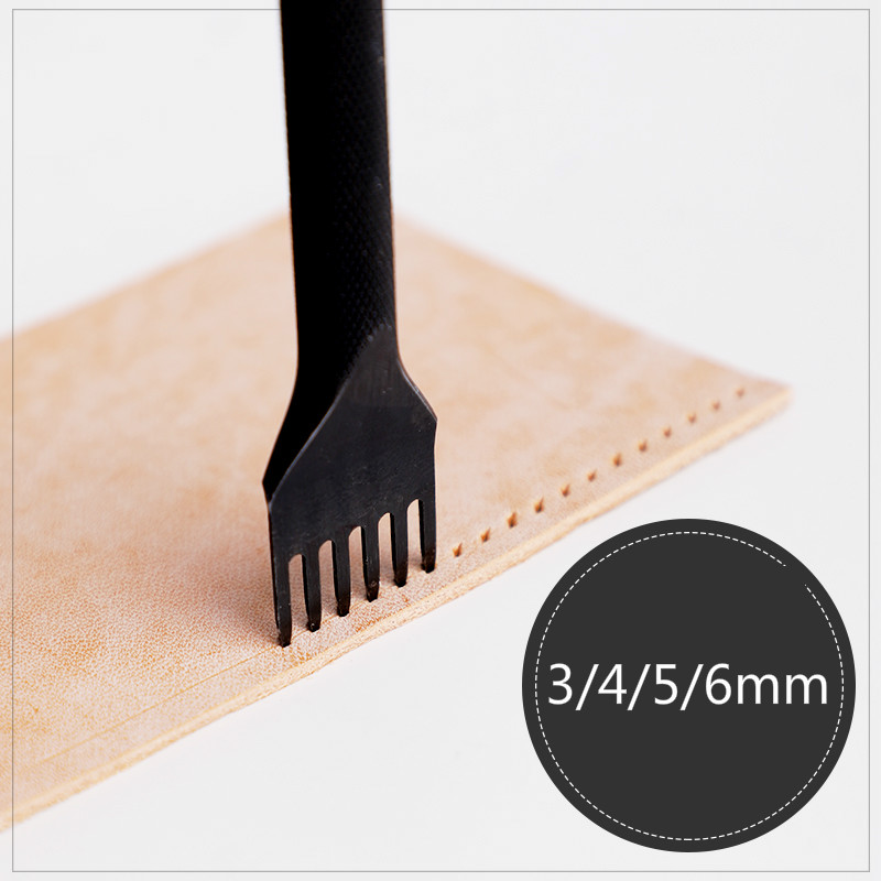 3/4/5/6mm Leather Hole Punches Spacing Tool DIY Handmade Leathercraft Lacing Stitching Sewing High-grade Steel Crafted Cutter