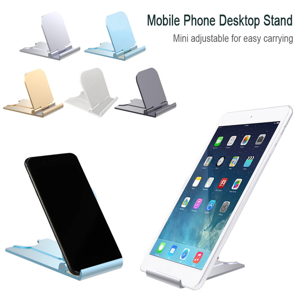 Universal Folding Cell Phone Table Stand Plastic Desk Stand Mobile Phone Holder Phone Tablet Ring Holder For IPhone Xiaomi Redmi