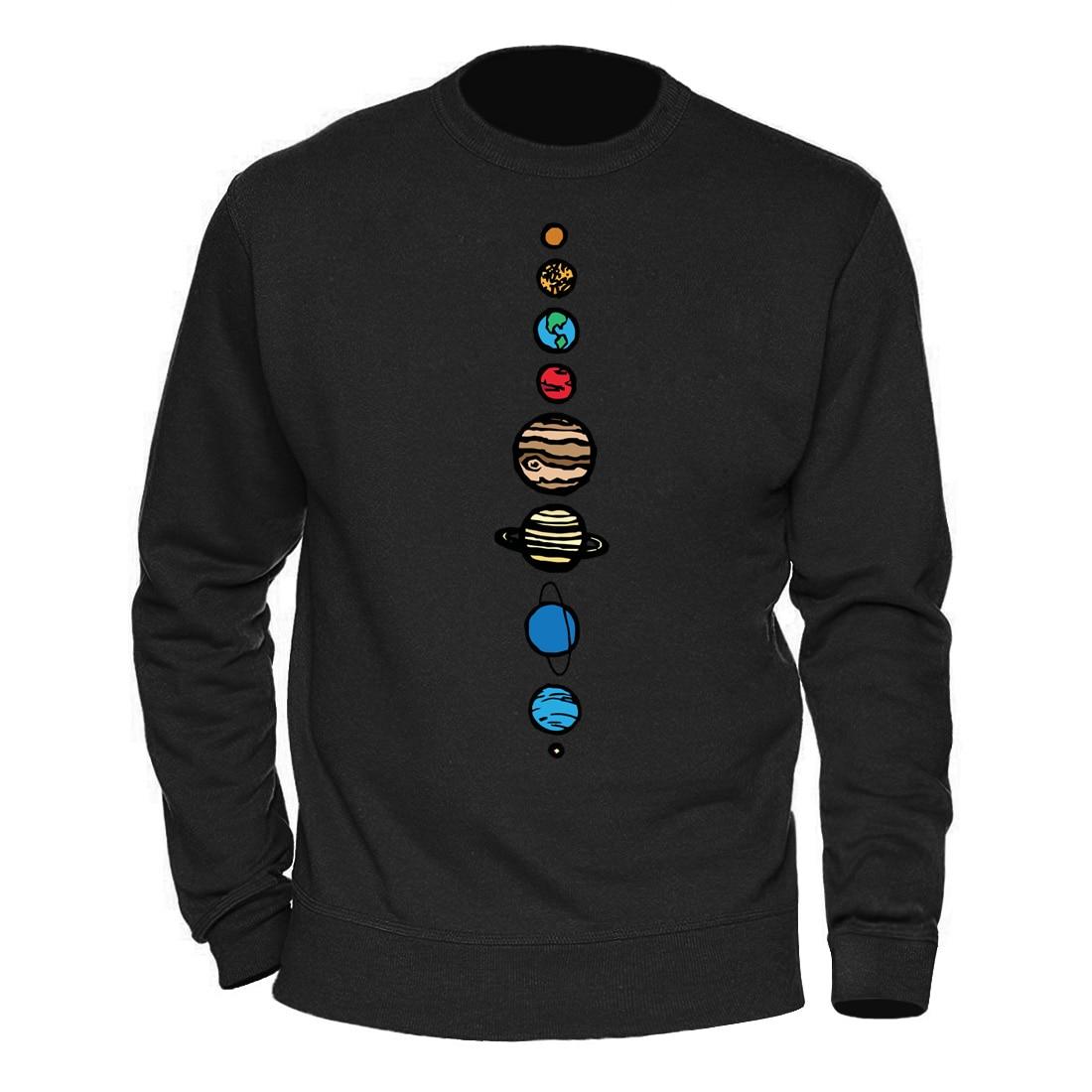 Male Clothing Solar System Planets Colour Hoody 2020 Keep Warm Winter Spring Sweatshirts Mens Casual Streetwear Harajuku Hoodies