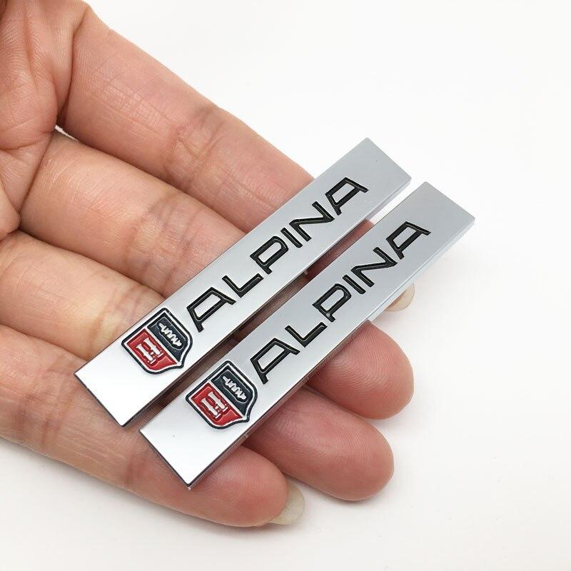 2 шт. металлические наклейки для BMW ALPINA E46 E39 E90 E60 E36 F30 X5 E53 F10 E34 боковые зеркала автомобиля Fender наклейки заднего бампера наклейки на багажник