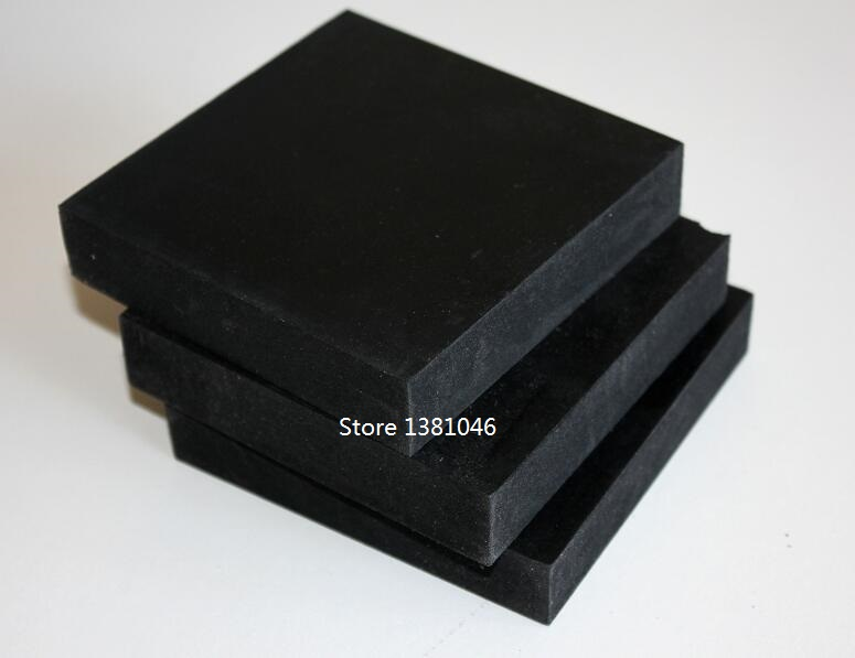 Size 100*100*20mm Crafting Bench Block Black Rubber Square Board Base For Steel Block Dapping 1/2/3pcs You Pick