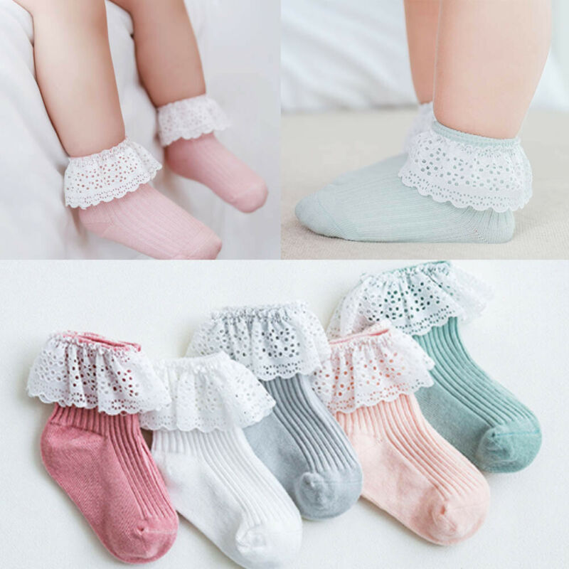 Catnew Children Cotton Lace Mesh Breathable Casual Baby Girls Kids Ankle Princess Socks