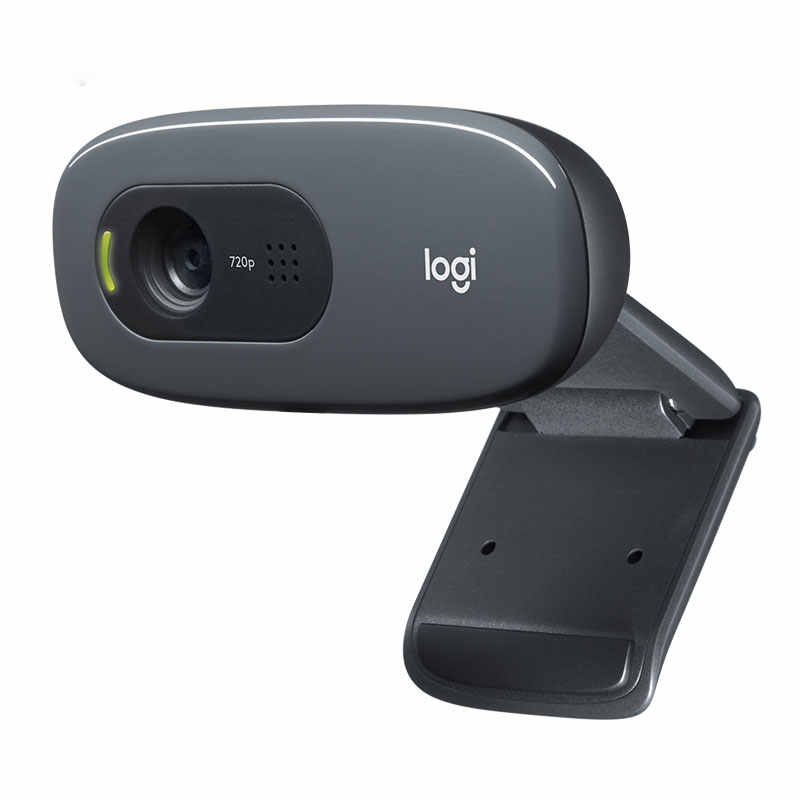Logitech Asli C270 C270i Desktop Komputer Notebook Drive Gratis Kursus Online Webcam Video Rekaman Kamera USB HD