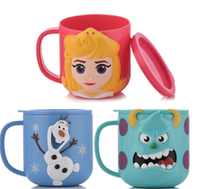 Disney Baby Cups Safe ABS Animal Cute Drinkware With Handle Nature Material Kid Home Water Milk Brush Cup