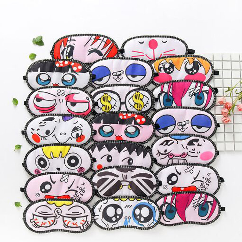 XEONGKVI Korean Cute Cartoon Sleep Shading Eye Mask SpringAutumn Brand Apply Ice Eliminate Cotton Women Men Eye Strain Blinder