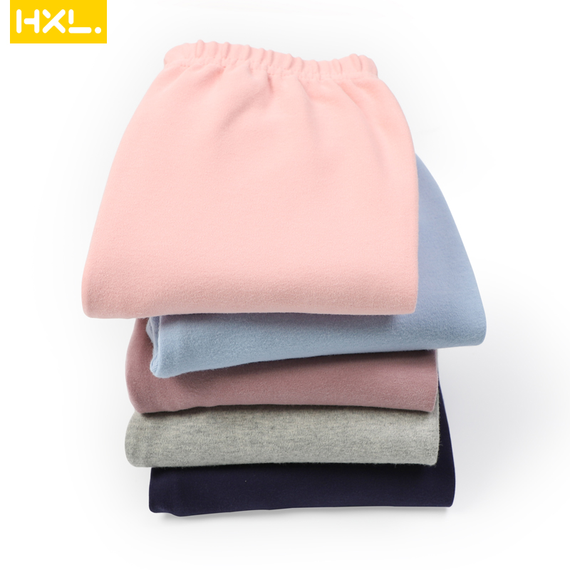 2020 Autumn Kids Basic Leggings Thermal Underwear Long Pants Cotton Solid Thick Soft Baby Boys Girls Trousers Pajamas Sleepwear 3