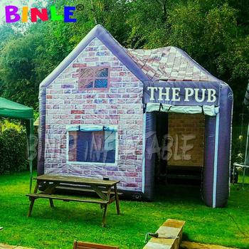 4.26x4.26m inflatable shack pub backyard man cave construction bar tent house for Englishman party use image