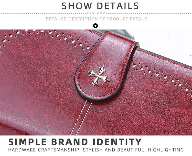para fora carteira longa moda qualidade superior