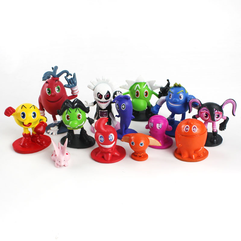 Pac Man Cute Cartoon Ghostly Adventures Action Figures Pacman Pixels Movie Figures Toys Best For Kid 12pcs Set Action Toy Figures Aliexpress