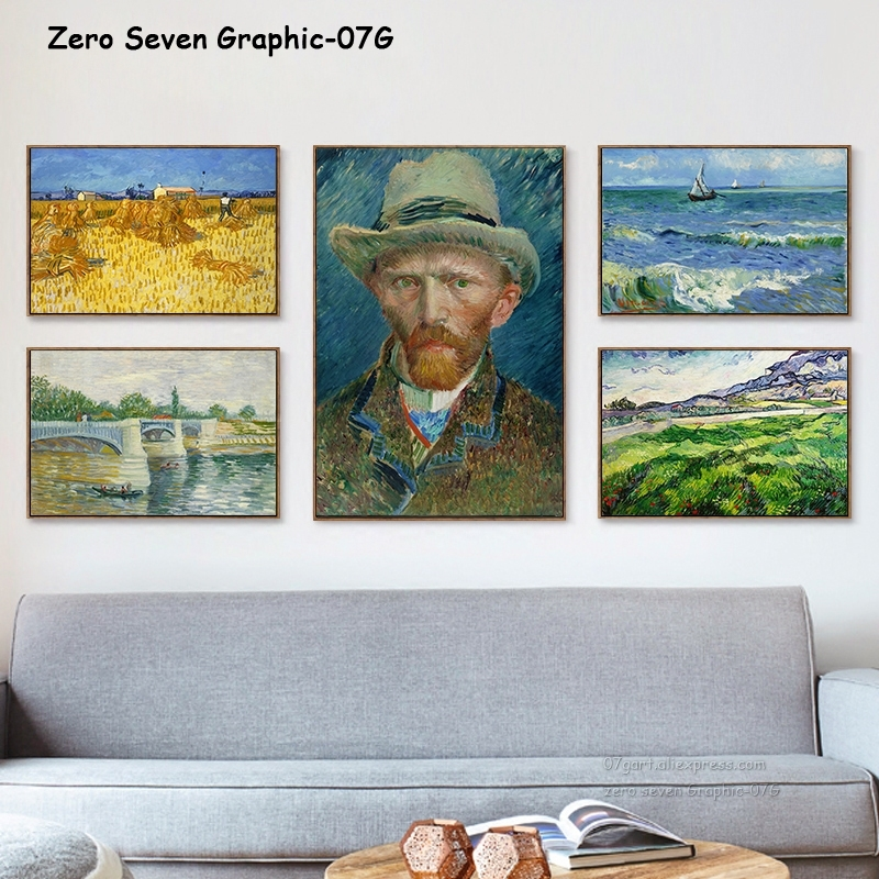 Van Gogh ünlü boyama Vincent erkek yatak odası Arles tuval baskı posteri duvar sanatı koleksiyonu oturma odası dekor için