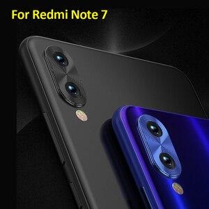 Image 2 - Pour Redmi Note 7 caméra lentille protecteur anneau placage aluminium pour Xiaomi Redmi Note 8 Pro Note 8T caméra couverture anneau Protection