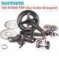 SHIMANO 105 R7000 2X11S TRP диск Brak Groupset дорожный велосипед 170 мм 172 5 мм TRP механический Falt крепление или пост крепление диск