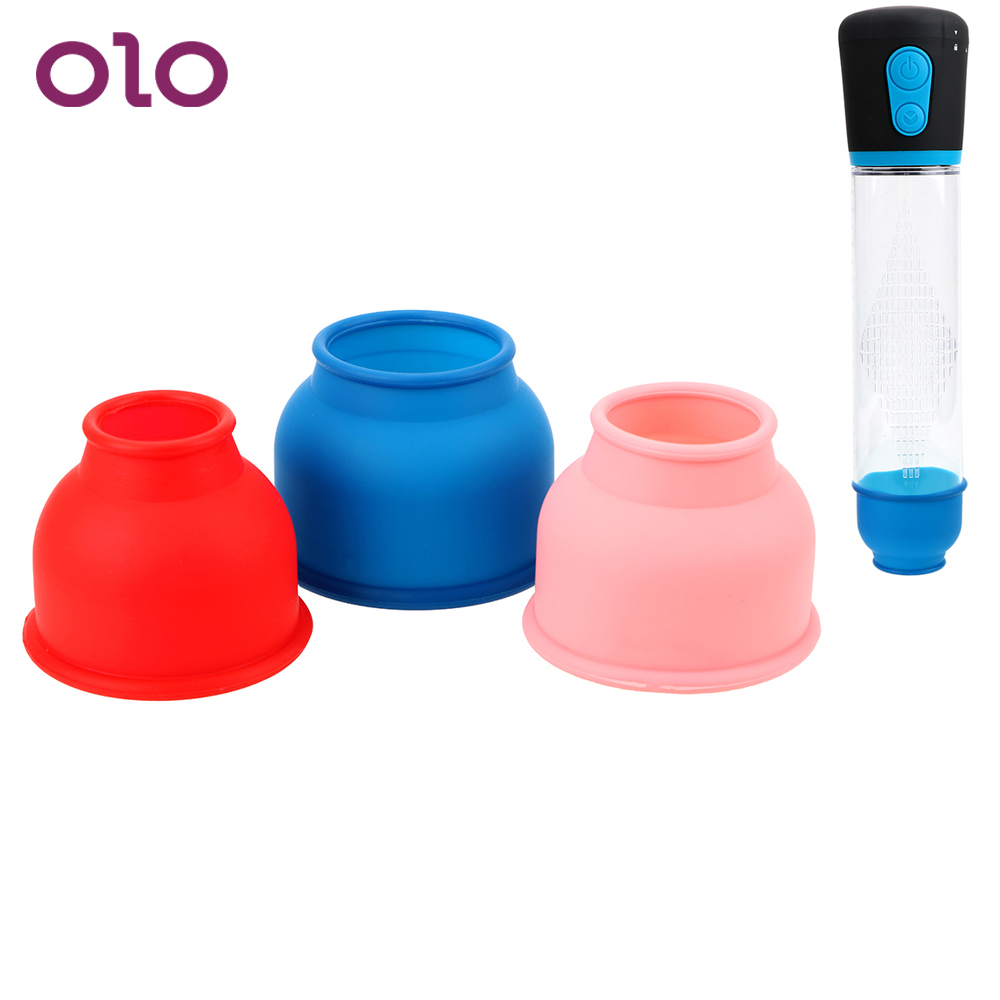 OLO 3 Piece/Set Protection Accessories Penis Pump Sleeve Silicone Ring Sleeve Enlargement Penis Pump Accessories