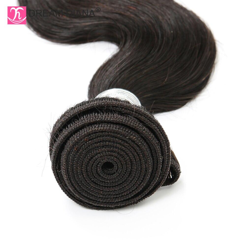 "Image 5 - DreamDiana Body Wave 1/3/4 Bundles 10"" 30"" Brazilian Hair Bundles Natural Color Remy Weaving 100% Human Hair Extensions M RatioHair Weaves   -"