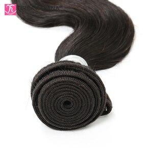 "Image 5 - DreamDiana Body Wave 1/3/4 Bundles 10"" 30"" Brazilian Hair Bundles Natural Color Remy Weaving 100% Human Hair Extensions M Ratio"