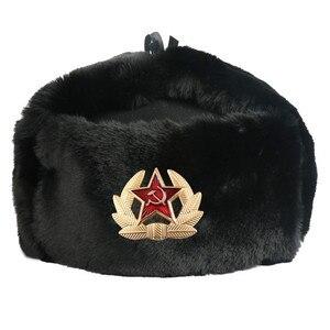 Image 5 - 2019 Haber Sonbahar Kış USSR Bombacı Şapkalar CCCP Erkekler Kadınlar Peluş Şapka Sıcak Tutmak Sovyet kap