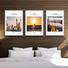 Nordic City Wall Art Poster Canvas Print for House Company Office Living Room Decoration Painting