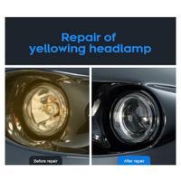 10/30ML High Density Headlight Polish Liquid Car Restoration Fluid Durable Car Repair set with towel sponge car washing kitTSLM1 3