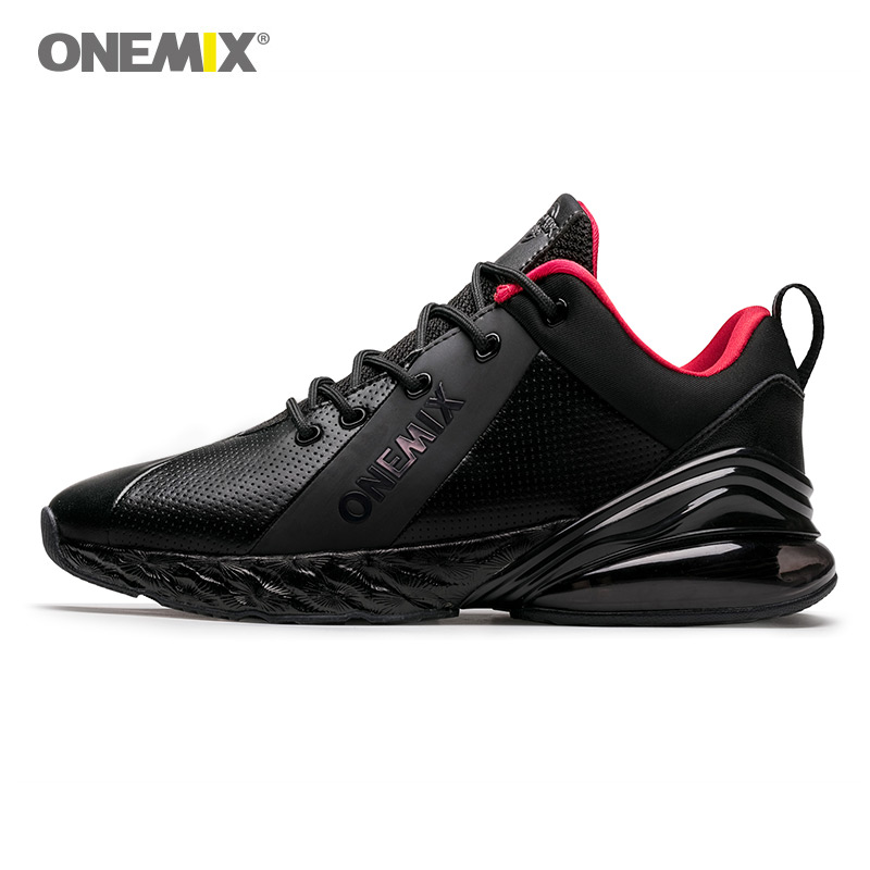 ONEMIX <font><b>Air</b></font> <font><b>270</b></font> Men Running Shoes For <font><b>Women</b></font> Sport New jogging shoes shock absorption cushion soft midsole leather <font><b>Max</b></font> 12.5 shoes image