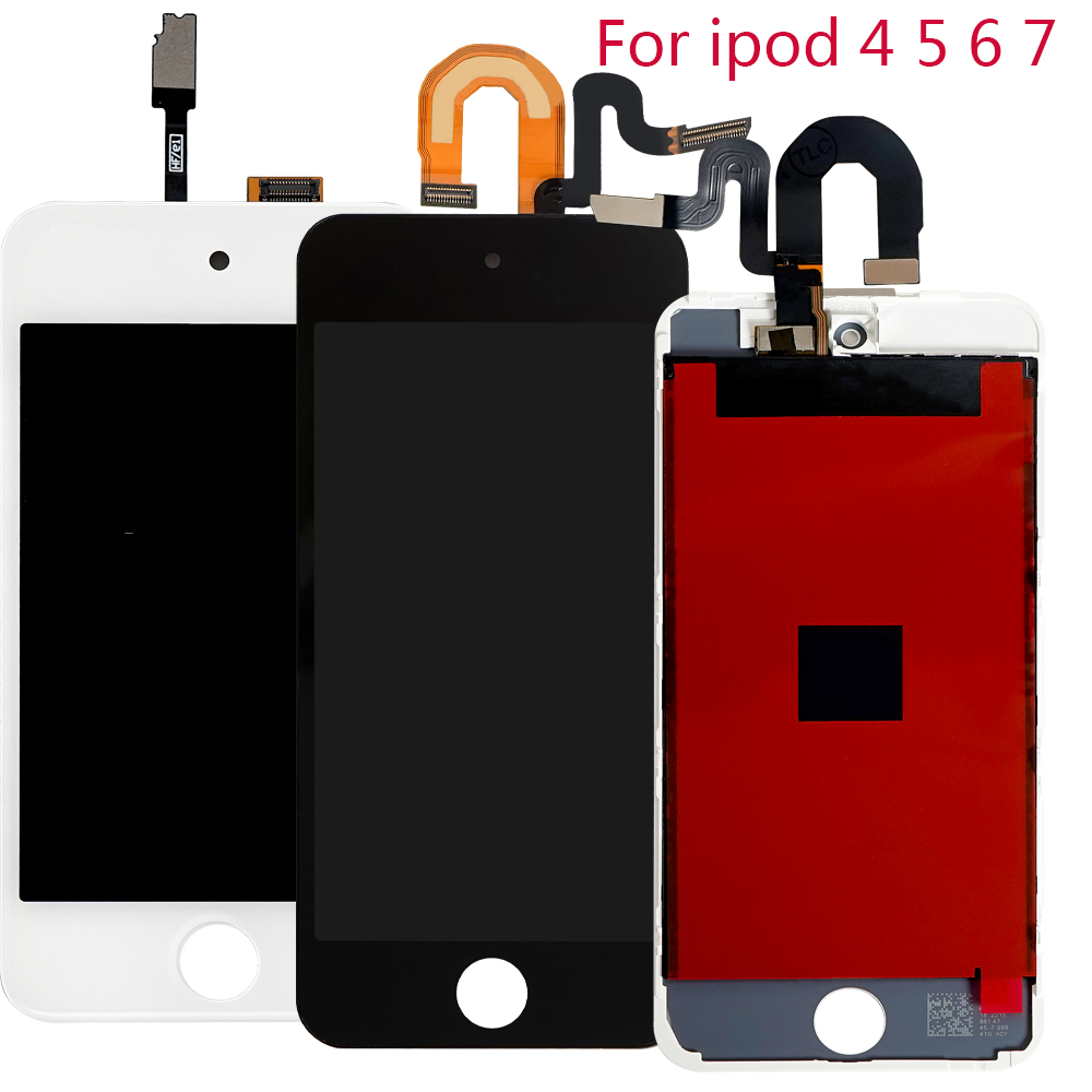 Sinbeda AA Quality For iPod Touch 4 5 6 6th LCD Touch Panel Glass Sensor Digitizer Assembly For iPod Touch 5 5th LCD Display(China)