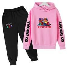 Game Among Us Kids Clothes Set Boys Children Clothing Hoodies+Long Pant 2 PCS Sets Kids Girls Cotton Sets Cartoon Sport suits