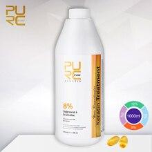 Pro brezilyalı saç Keratin tedavisi 8% daha fazla kıvırcık saç düzleştirici için 1000ml saç maskesi ve saç bakımı Keratin tedavisi