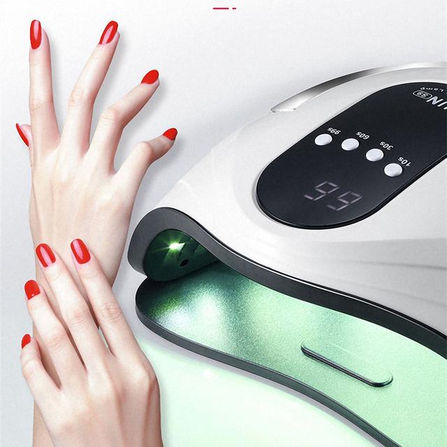 Zawód 120W 42LED UV lampa do suszenia paznokci dla wszystkich paznokcie żelowe polski utwardzanie Manicure maszyna do narzędzia do paznokci lampa do paznokci tanie i dobre opinie Z tworzywa sztucznego Manicure Lamp nail drill manicure pedicure