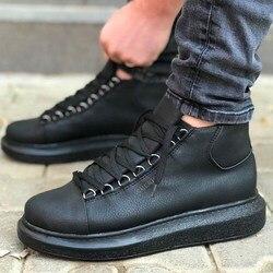 Chekich CH258 Zapatos de deporte blancos de suela alta con cordones para hombre, zapatos de diario, zapatillas de deporte para hombre