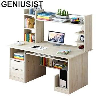 Reibtisch-Mesa de ordenador portátil con estantería, Mesa de Escritorio para ordenador, Mesa...
