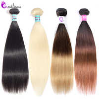 Goodliness 1/3/4 rubio miel 613 mechones Ombre extensiones de cabello humano mechones Remy 1B/4/27 30 extensiones de pelo ondulado brasileño Natural mechones