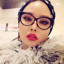 New Cat Eye Glasses Frame Women Brand Designer Optical Eyeglasses Ladies Fashion Retro Clear