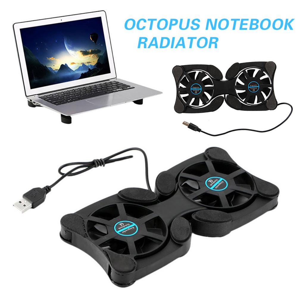 Octopus Shape Portable Foldable Notebook Laptop Twin USB Fan Cooler Cooling Base