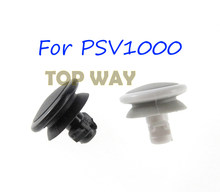 2 pces para psv 1000 branco preto 3d tampa de manche analógico para psv1000 botão joystick rocker cap para psvita 1000 psv 1000