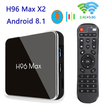 NEW H96max X2 Android 8.1 TV BOX Support Bluetooth 2.4G wifi 2.65Hz Smart box Media Player tv brasil iptv ltaly