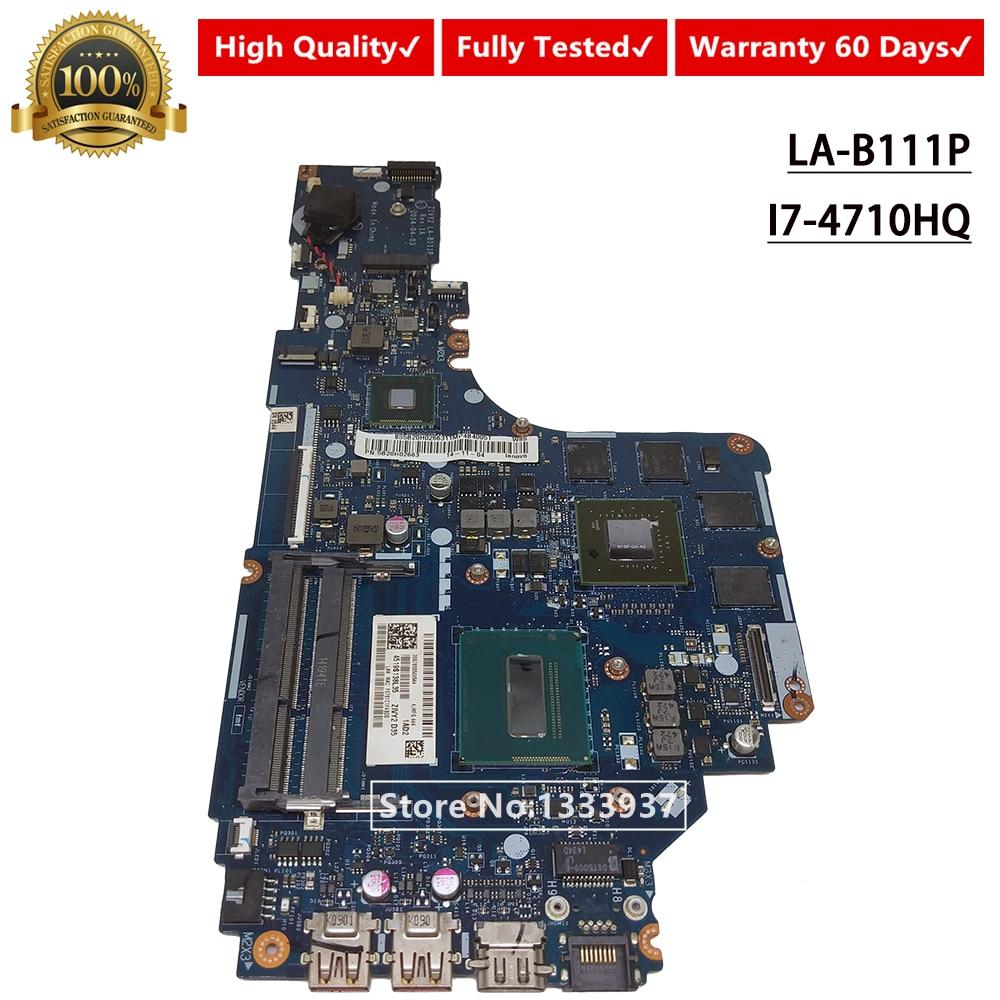 For Lenovo Ideapad Y50-70 W// I7-4710HQ ZIVY2 LA-B111P Mainboard Motherboard