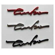 "Chrome Silver Black Red Letters "" turbo "" Trunk Lid Fender Badges Emblems Metal Zinc Alloy Badge Emblem Decal Sticker TURBO цена в Москве и Питере"