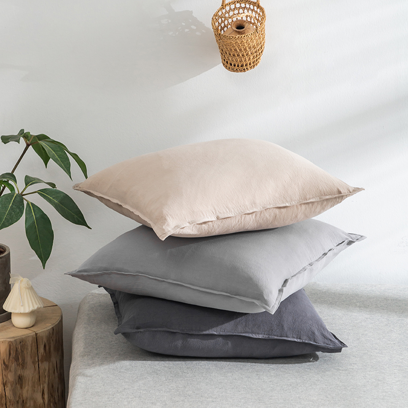 Japanese Grey Pink Cushion Cover Cotton Linen Throw Pillow Covers Decorative Cushions For Sofa Bed Waist Nordic Pillowcase 45*45