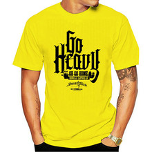 Men'S Fashion Black Cotton Ironville Go Heavy Or Go Home Powerlifting T Shirt