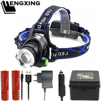 FX-DZ30 Headlight V6 T6 L2 led headlamp zoom flashlight adjustable head lamp 8000lm 18650 battery front light Recharge zoomable