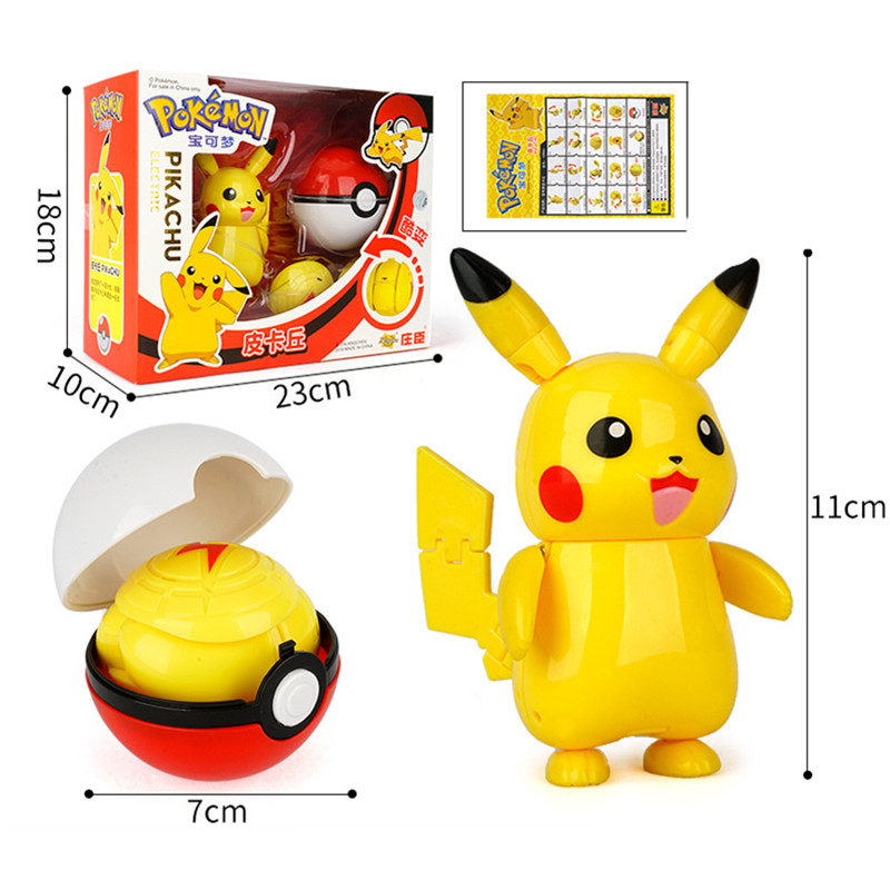 Pokemon toys set Pocket Monster Pikachu Action Figure Pokemon Game Poke Ball Model Charmander Anime Figure Collect Toy Kids Gift 2