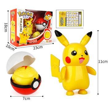Pokemon toys set Pocket Monster Pikachu Action Figure Pokemon Game Poke Ball Model Charmander Anime Figure Collect Toy Kids Gift 2